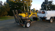 1tonne excavator available for hire Longwarry Baw Baw Area Preview