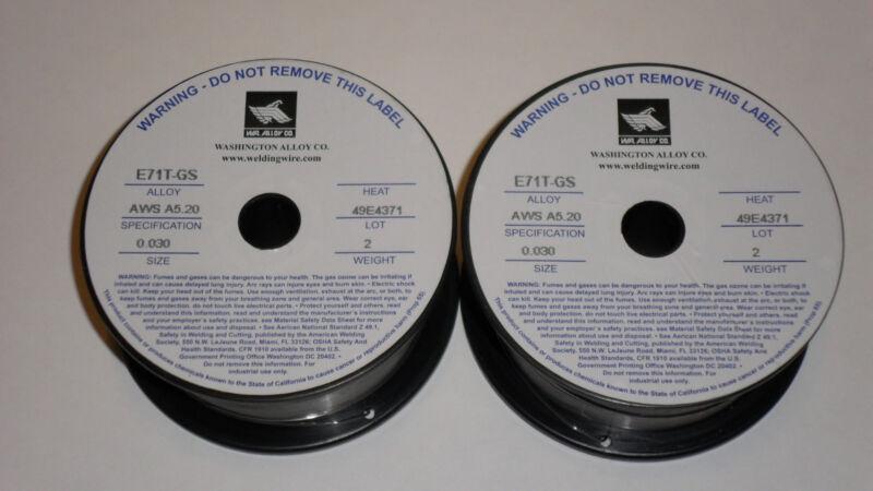 .030 E71T-GS Flux Cored Welding Wire - 4 pounds (2x2lbs)