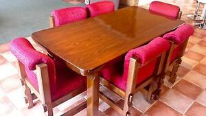 Re-Upholstered and Restored Dining Setting Table and 6 chairs Kingston Kingborough Area Preview