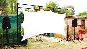 4.5m Stretch Screen Cinema Hire Perth - O'Reilly's Hire Co. Kelmscott Armadale Area Preview