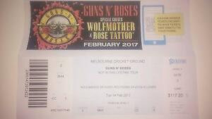 GUNS N' ROSES MELBOURNE TICKETS Carrum Kingston Area Preview