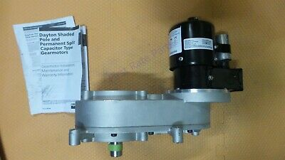 Dayton 1lpy7 Ac Gearmotor 115230v Gear Motor 2 Rpm Rotisserie Bbq Grill New