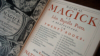NATURAL MAGICK by Porta / RARE HARDCOVER OCCULT WITCHCRAFT HERBAL ALCHEMY PLANT