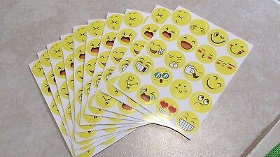 10  Kids Smile Face Stickers Happy Face Teacher Reward Praise Stickers Us Seller