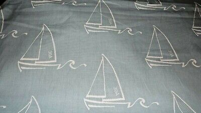 Sailboat Drawing Outdoor Fabric Nautical / Beach Themed Fabric | Upholstery