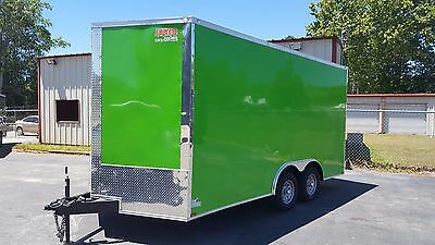 New 8.5 X 16 V Nose Enclosed Trailer Utv Rzr 4 Wheeler Ranger Atv