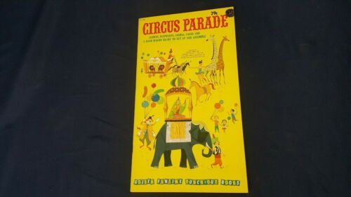 Vintage Golden 1960 Circus Parade GF 158 Punch-Out Paper Dolls Book Uncut NOS LN