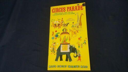 Vintage Golden 1960 Circus Parade GF 158 Punch-Out Paper Dolls Book Uncut NOS LN