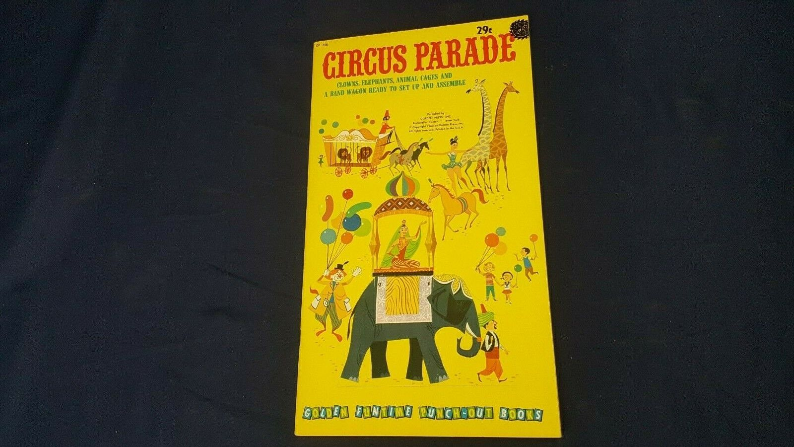 Vintage Golden 1960 Circus Parade GF 158 Punch-Out Paper Dolls Book Uncut NOS LN - $14.99
