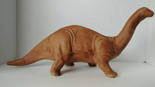 """RARE Vtg The Clay House San Francisco Apatosaurus Bank Large 21"""" long 1998"""