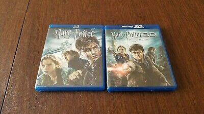 3D Blu-Ray - Harry Potter & the Deathly Hallows Part 2 & PART 1 W/ (Harry Potter Deathly Hallows Part 1 3d)