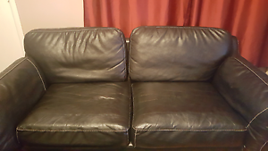 3 seater black leather Mount Lewis Bankstown Area Preview
