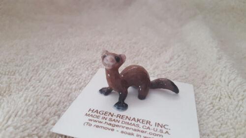 Hagen Renaker Ferret Lying Figurine Miniature Collect New Free Shipping 03319