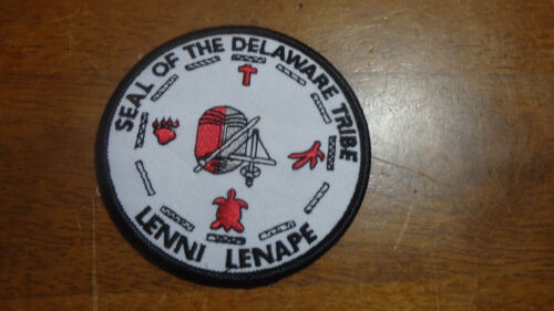 SEAL OF DEAWARE TRIBE LENNI LENAPE   OBSOLETE  PATCH  BX 2 #2