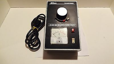 Nikon Transformer Power Supply Optiphot 0-6volt 9 Max.