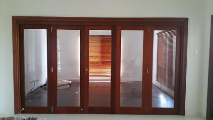 QUALITY SOLID CEDAR Timber & Glass Bi-Folds Rosevale Ipswich South Preview