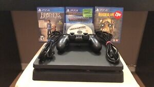 1TB PS4 Slim - 4 Games/Controller/cords