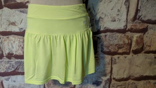 BOAST GATHERED TENNIS SKIRT SUNNY LIME W/ATTACHED SHORTS SIZE M NWTFree Ship