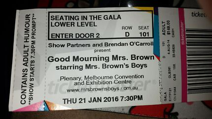 Mrs brown  boys ticket  up for sale Brunswick Moreland Area Preview