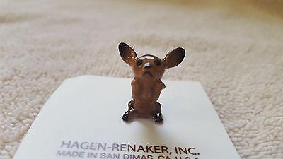 Hagen Renaker Dog Chihuahua Pup Black Figurine Miniature New Free Shipping 00338