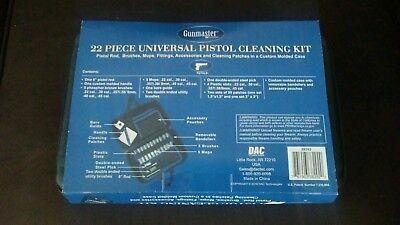 GUNMASTER  22 piece pistol gun Cleaning Kit. .22, .30, .357/.38/9mm .40 .45 cal