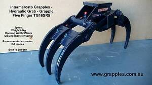 Five Finger Hydraulic Grab - Grapple for Excavator 2-3.5 tonne Sydney City Inner Sydney Preview
