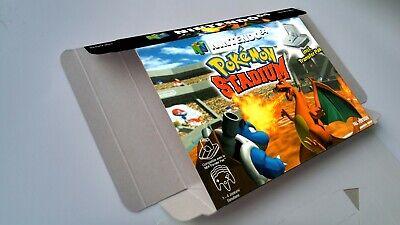 Pokemon Stadium - box reproduction with insert - N64 - Pal REGION. HQ !!
