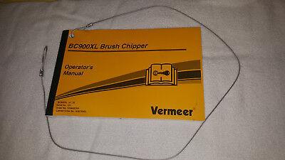 Vermeer Bc900xl Brush Chipper Operators Manual W Lanyard Nice Free Shipping