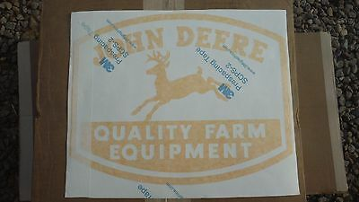 John Deere Quality Farm Equipment Decal. 11 58 X 15 Vinyl. Green Or Yellow