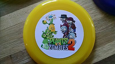 12 PLANTS VS ZOMBIES mini frisbees birthday party favors, treat bag loot, - Plants Vs Zombies Party Supplies