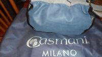 Borsa In Pelle Blu E Nera Di Casmani Milano Blu-  - ebay.it