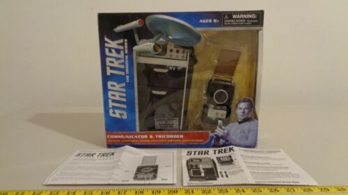 Star Trek TOS Geological Tricorder & Communicator 2 Pack Opened and Working 2012