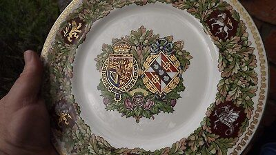 1981 Royal Wedding Charles and Diana Minton China Plate Mulberry Hall Boxed
