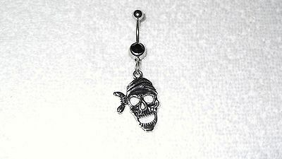 Mummy Skull Scary Halloween Fun Charm Belly Navel Ring Body Jewelry Piercing](Halloween Belly Button Rings)