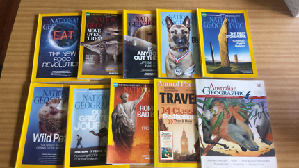 9 x National Geographic & 1 Australian Geographic