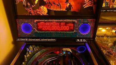 Bram Stokers Dracula BSD - Lighted Pinball LED Speaker Panel - ULTIMATE