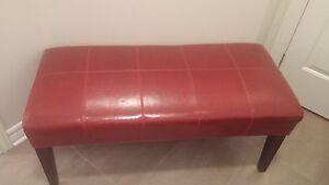 leatherlike bench