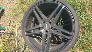 22 inch (245/30) rims XO LUXURY black twin spoke & good rubber Guildford Parramatta Area Preview