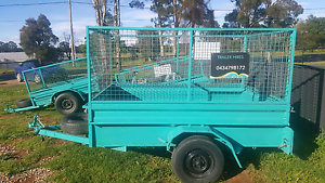 8x5 feet high side box trailer with cage for HIRE Cheap rates Kemps Creek Penrith Area Preview