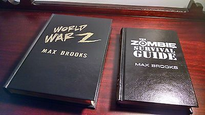 World War Z Zombie Survival Guide Matching Lettered Set Cemetery Dance Brooks