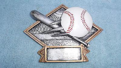 Baseball trophy resin diamond plate full color DPS60 ()