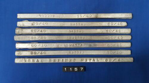 Nassau Solder 60/40 Solder Bars 3lbs 15 oz
