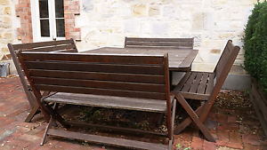 Jarrah 5pc outdoor setting Stirling Adelaide Hills Preview