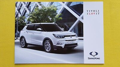Ssangyong Tivoli SE EX ELX Petrol Diesel car brochure sales catalogue 2017 MINT