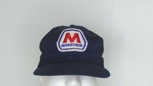 VTG MARATHON PETROLEUM Gas Oil Patch Trucker Hat Snapback Cap Foam Made in USA