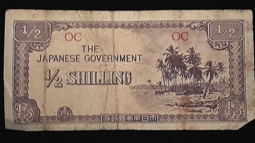 The Japanese Government 1/2 Shilling-brought home from WWII