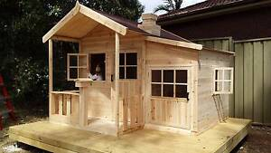 Malibu ACACIA HARDWOOD Timber Kids Cubby House -Delivery Avail Kingswood Penrith Area Preview