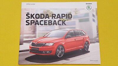 Skoda Rapid Spaceback S SE Tech Sport sales brochure catalogue April 2017 MINT