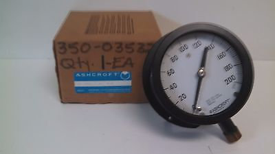 New Old Stock Ashcroft Duragauge 0-200psi Pressure Gauge 45-1379-ss-04l-200