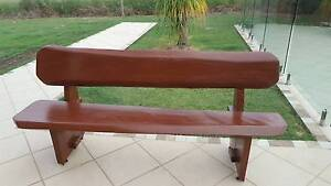 Solid Timber Outdoor Bench Seat Ipswich Ipswich City Preview